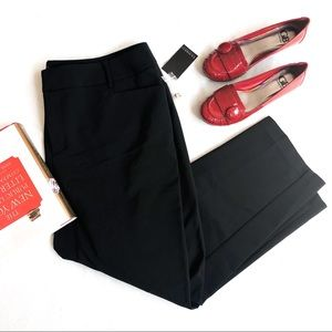 NWT Eloquii Flat Front Black Cropped Pants